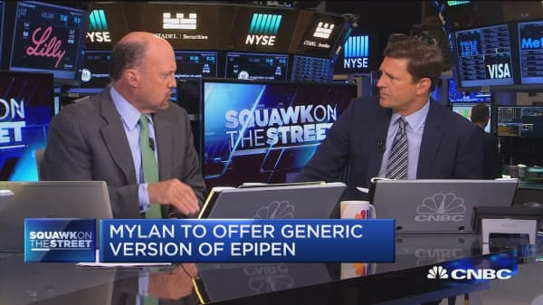 Jim Cramer talks influences that helped EpiPen price changes