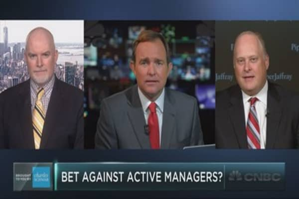 Bet against active managers?