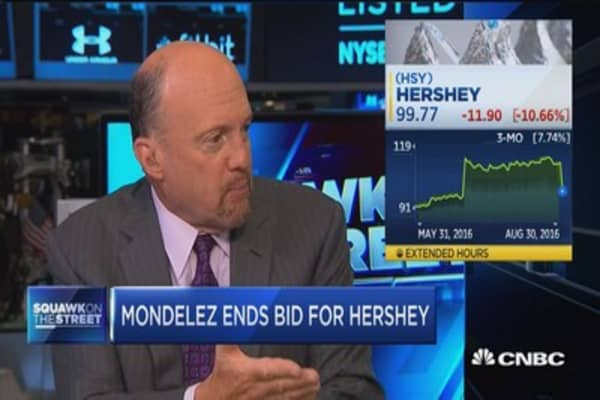 No deal between Mondelez, Hershey