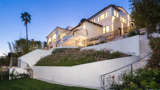 A magnificent Mediterranean estate for sale in Hollywood Hills is listed just under $4,000,000.