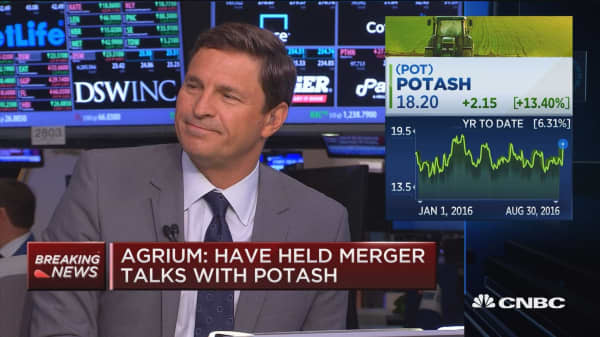 Agrium: Have held merger talks with Potash