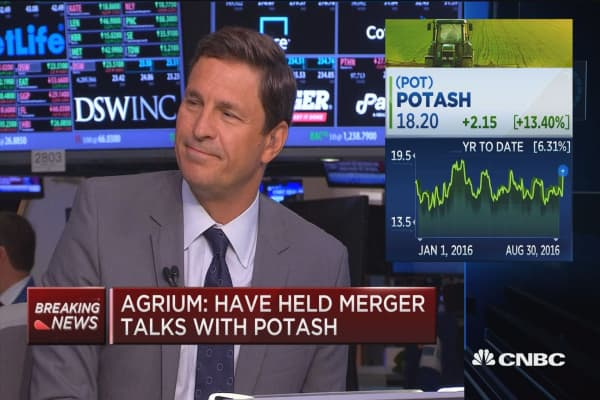 Agrium: Have held merger talks with Potash