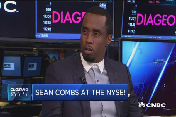Sean 'Diddy' Combs visits the NYSE