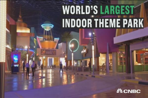 Dubai opens world's largest indoor theme park