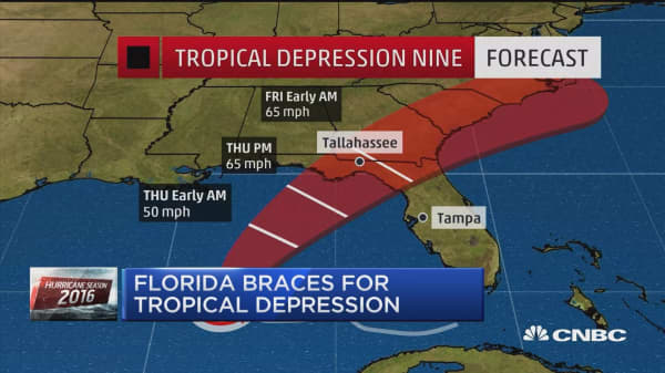 Hurricane watch issued for Florida's Gulf Coast