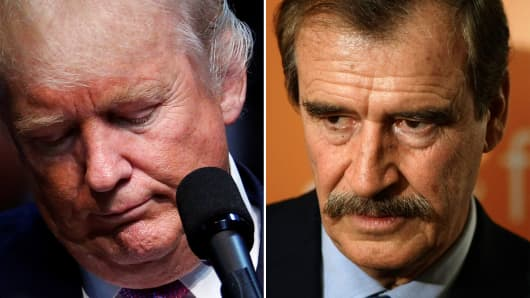 Republican presidential candidate Donald Trump and former Mexican President Vicente Fox.