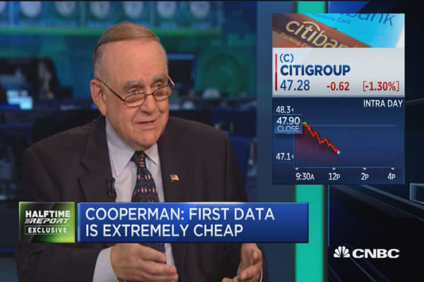 Cooperman: We are out of Citigroup stock