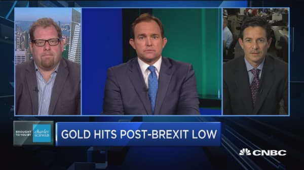 Gold hits lowest level since Brexit