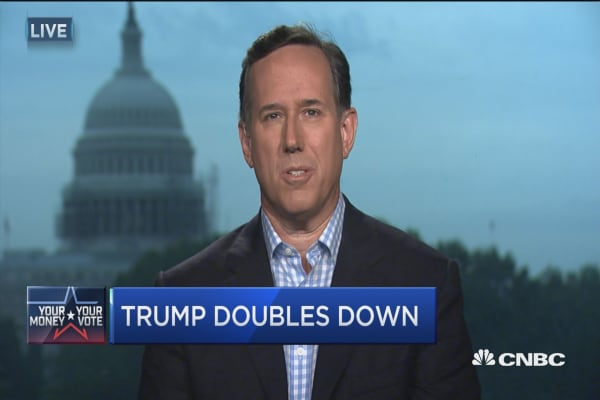 Santorum: This is a race Trump should win
