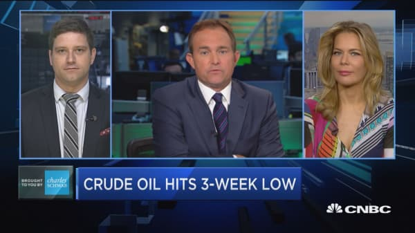 Trading oil's plunge