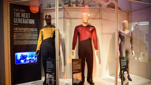 """Star Trek: The Next Generation"" costume display, courtesy of Brady Harvey via EMP Museum"