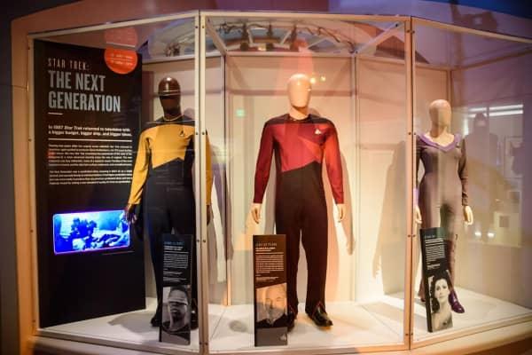 """Star Trek: The Next Generation"" costume display, courtesy of Brady Harvey via EMP Museum"