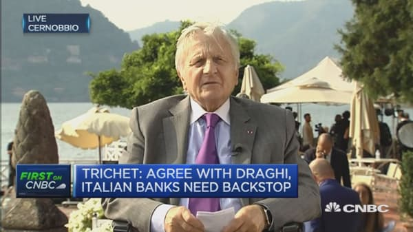 Euro area growth insufficient: Trichet