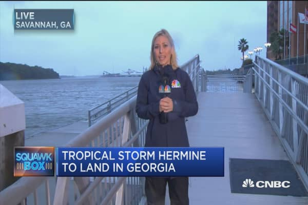 Tropical Storm Hermine to land in Georgia