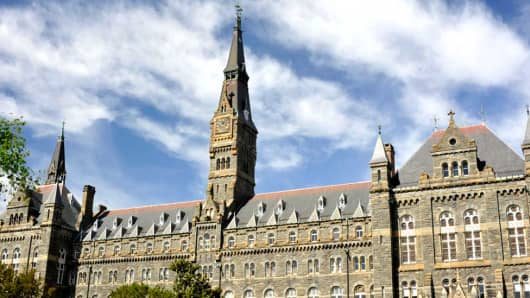 At Georgetown University, most students hail from families in the top 20 percent of the income distribution.