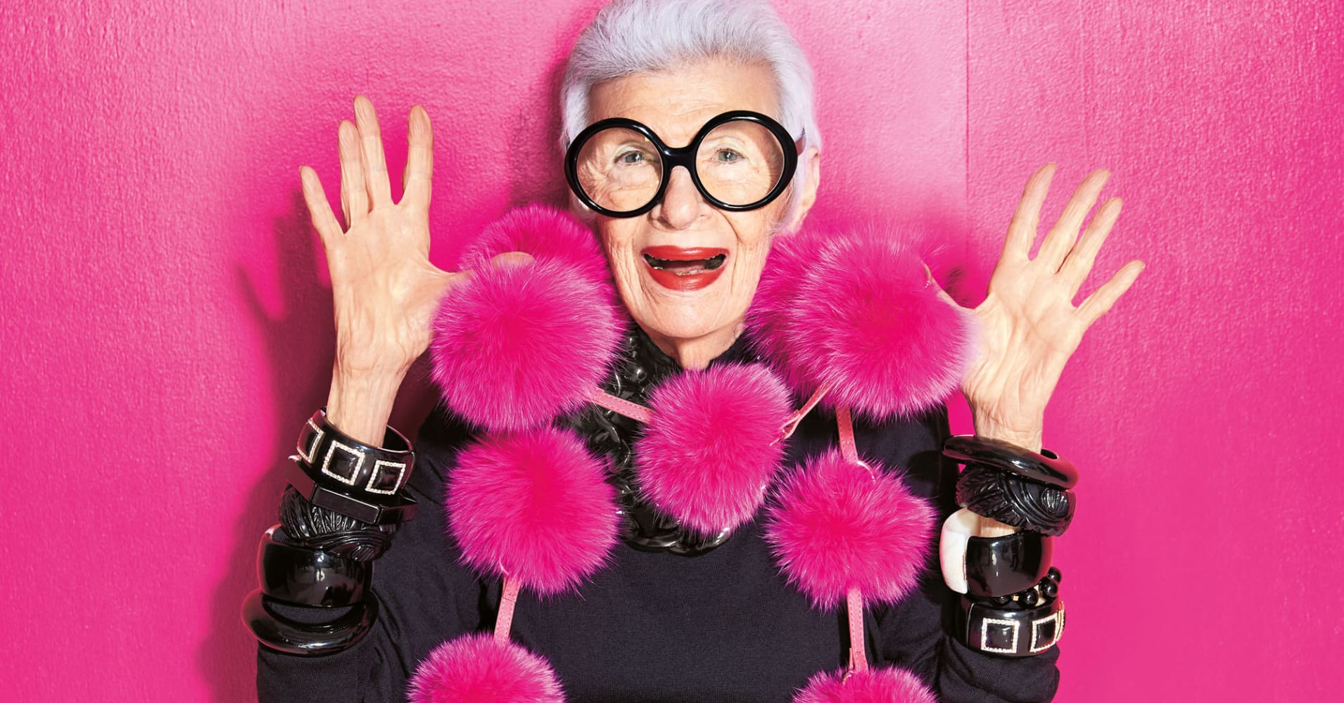 6faf4bf8e9 95-year-old fashion icon Iris Apfel says hard work is her fountain ...