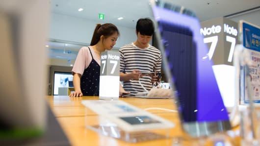 Samsung Note 7 phone