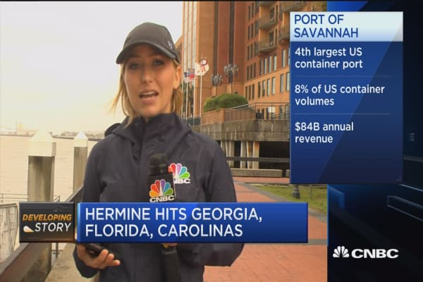 Hermine threatens to dampen Labor Day plans
