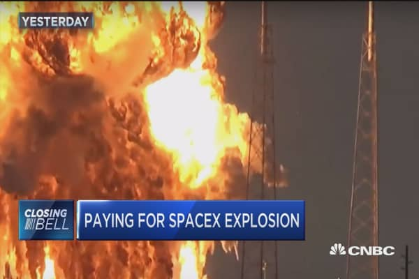 Who pays for SpaceX explosion?
