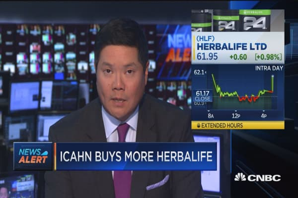 Icahn buys nearly 307K shares of Herbalife