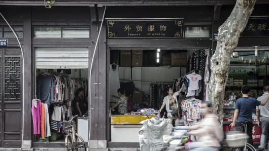 Aug. 29, 2016: A clothing store in Hangzhou, China. The leaders of 20 of the worlds major economies are in Hangzhou to talk about issues ranging from the global economy to the threat of terrorism.