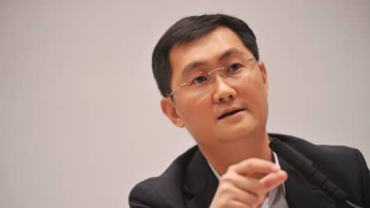Ma Huateng, chairman and CEO of Tencent Holdings.