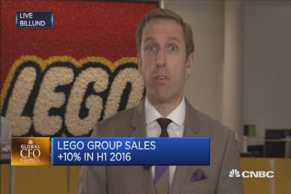 LEGO Group sales up 10% in H1 2016
