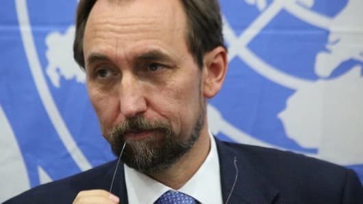 Zeid Ra'ad al-Hussein, the UN High Commissioner for Human Rights