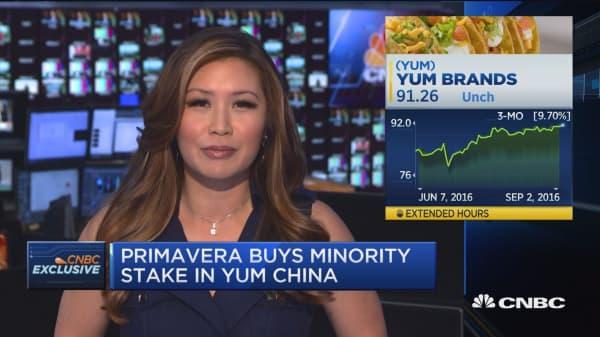 Primavera puts moves on Yum Brands