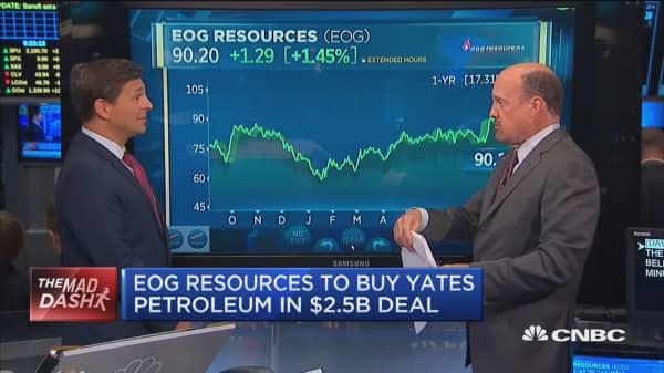 Cramer's Mad Dash: EOG to buy Yates