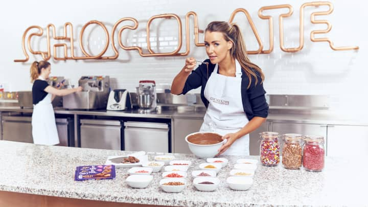 Hayleigh Curtis, a chocolate scientist in the Cadbury Innovation team, has had her taste buds insured to the tune of £1million