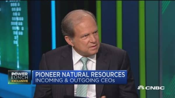 Pioneer's Dover: I ca see getting to $50-$60 oil next year