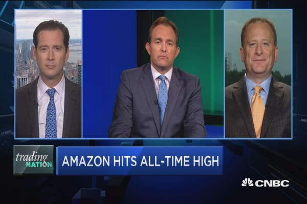 Trading Nation: Amazon hits all-time high