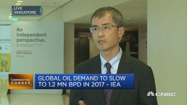 Oil markets closer to balance in 2017: IEA