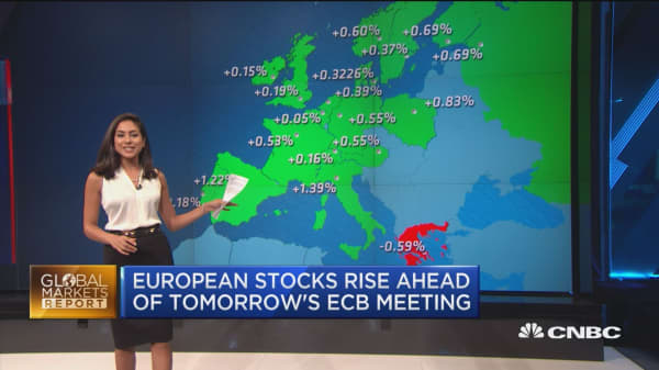 European stocks rise ahead of ECB meeting