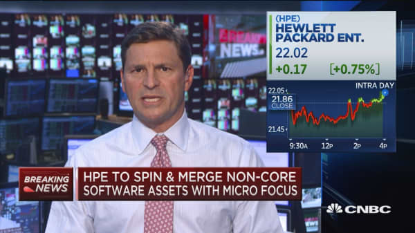 HPE to recieve $2.5B for spin & merge with Micro Focus