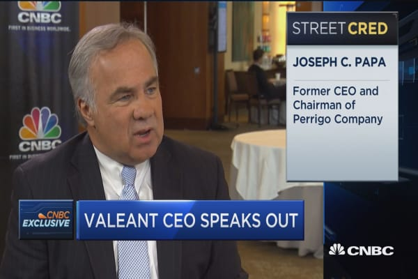 Valeant CEO: Our main mission is improving people's lives