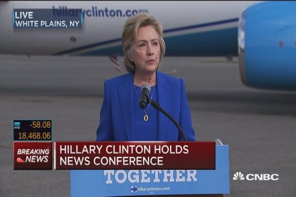 Clinton: Last night was a test for Trump, he failed