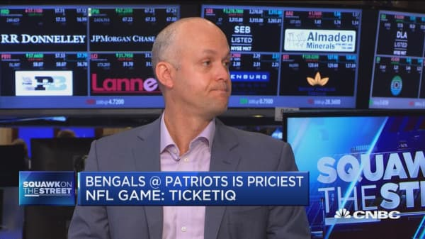 Bengals @ Patriots is priciest NFL game: TicketIQ