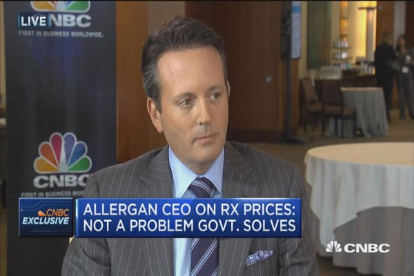 Allergan CEO on Rx prices: Not a problem govt. solves