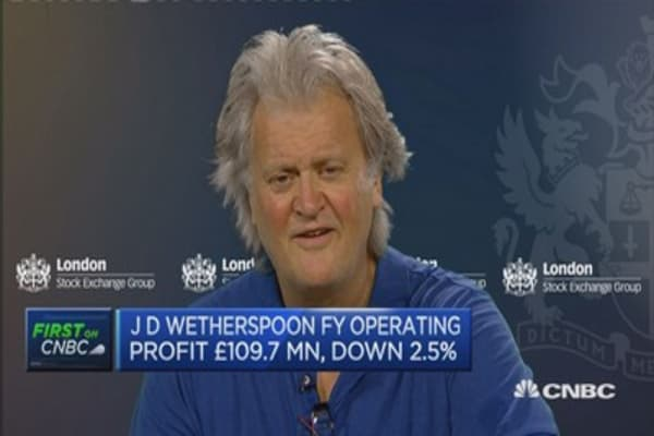 Brexit remain camp telling a scare story: J D Wetherspoon