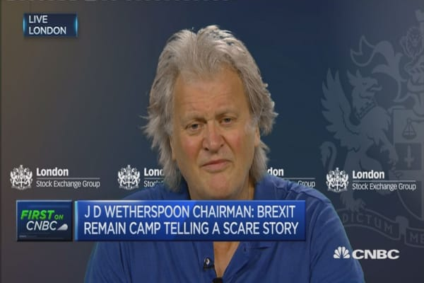 Wish I could sell a pint of beer online: J D Wetherspoon Chair