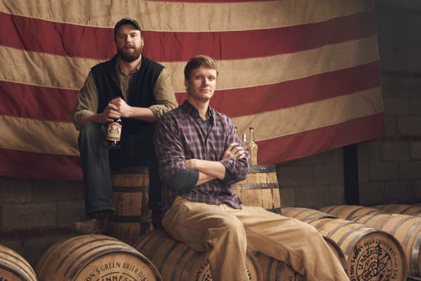 Brothers Andy Nelson and Charlie Nelson, co-founders of Nelson's Green Brier Distillery