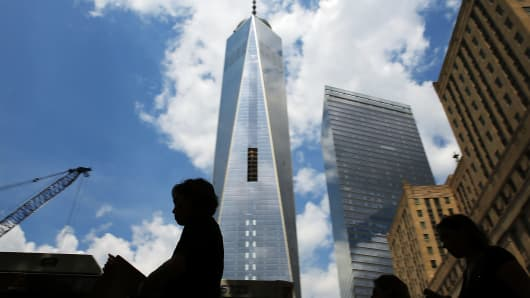 A soaring beacon of hope: The Freedom Tower at One World Trade Center.