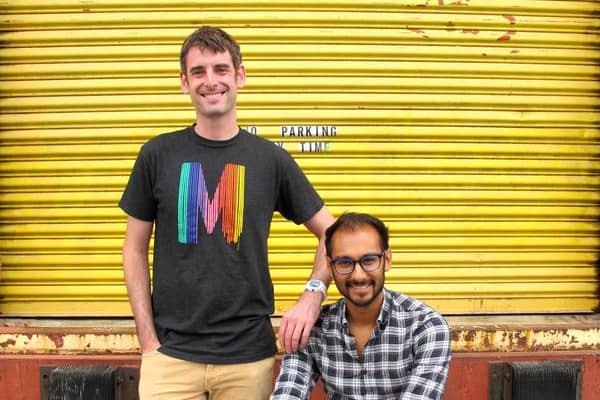 Aaron Schwartz, founder and CEO of Modify Watches, with his business partner and creative director, Ashil Parag