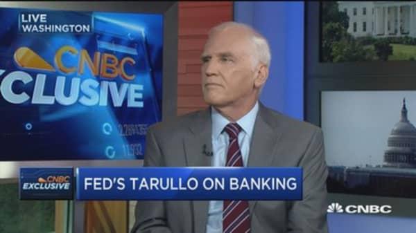 Fed's Tarullo: Bank behavior hasn't changed enough