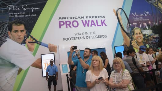 A view of the American Express Pro Walk at the American Express Fan Experience at the 2016 U.S. Open at USTA Billie Jean King National Tennis Center on August 30, 2016, in New York City