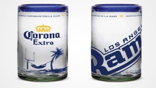 Corona Extra NFL mug