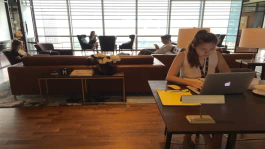 Inside The Great Room, a luxury inspired co-working space in Singapore