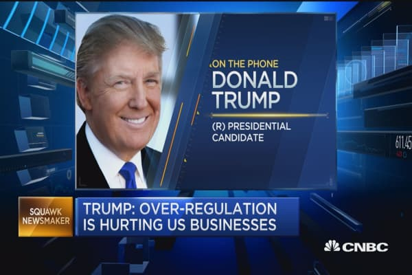 Low rates creating false market: Trump